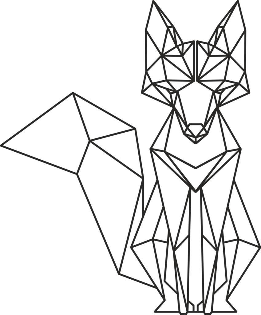 геометрические картинки для срисовки лиса