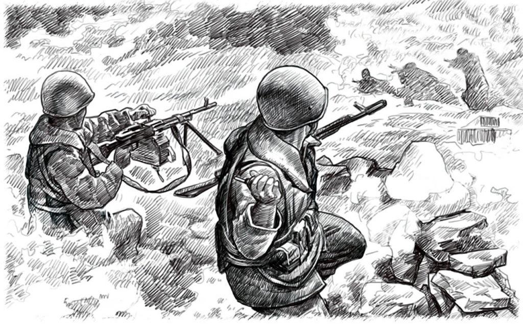 военные рисунки для срисовки