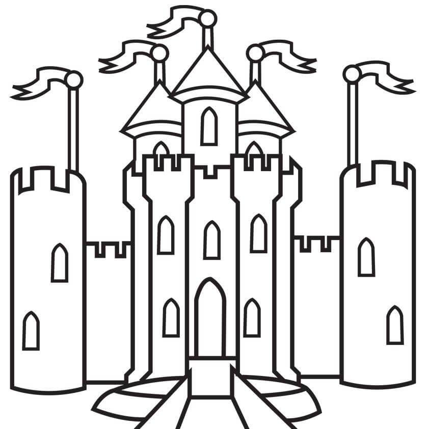 сказочный замок картинки для срисовки