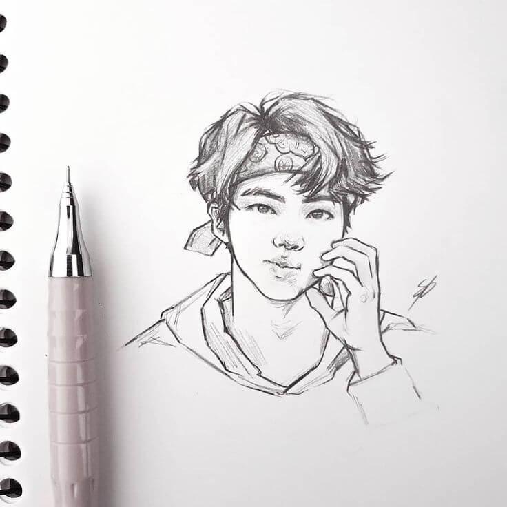 рисунки корейцев для срисовки