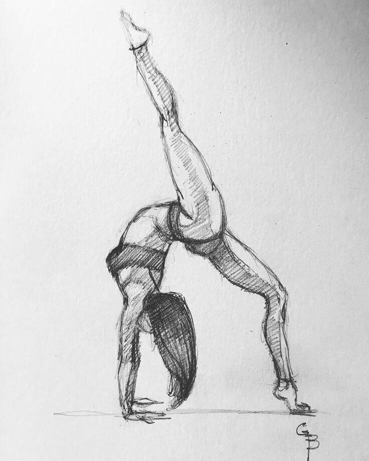 гимнастки для срисовки