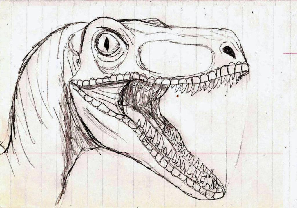 рисунки для срисовки динозавры простые
