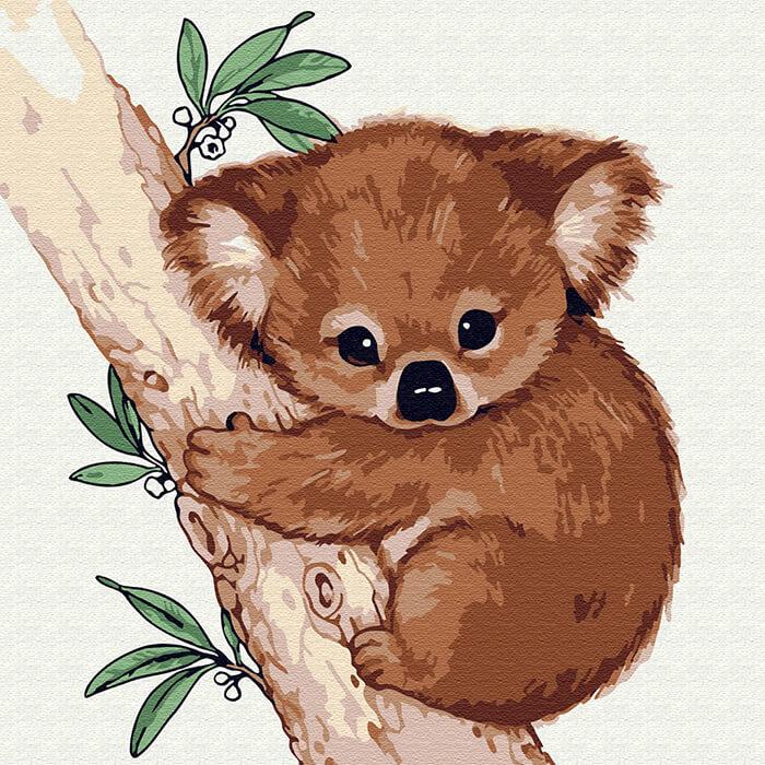 звери для срисовки коала
