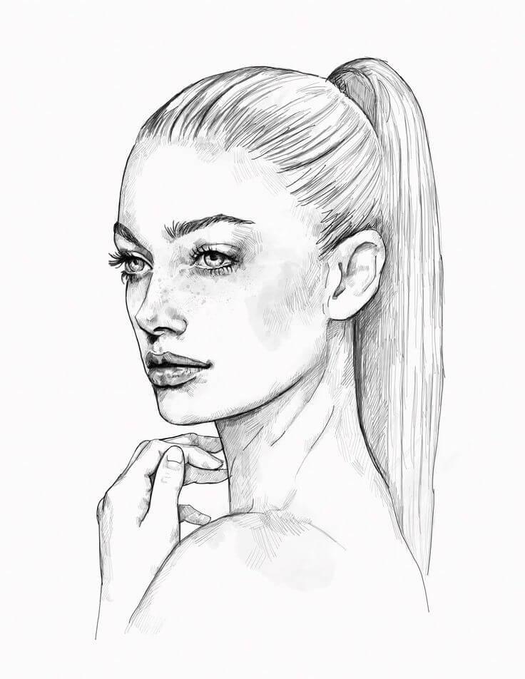 простые портреты для срисовки легкие