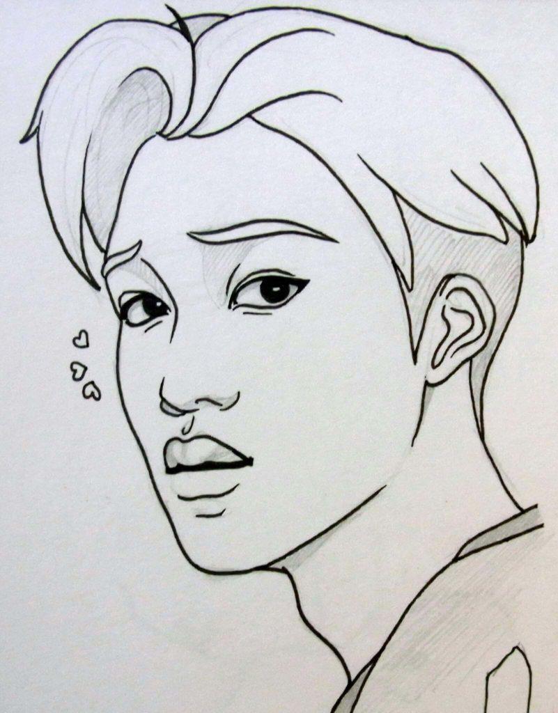 корейские картинки для срисовки легкие