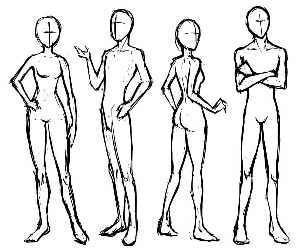 картинки тела для срисовки позы