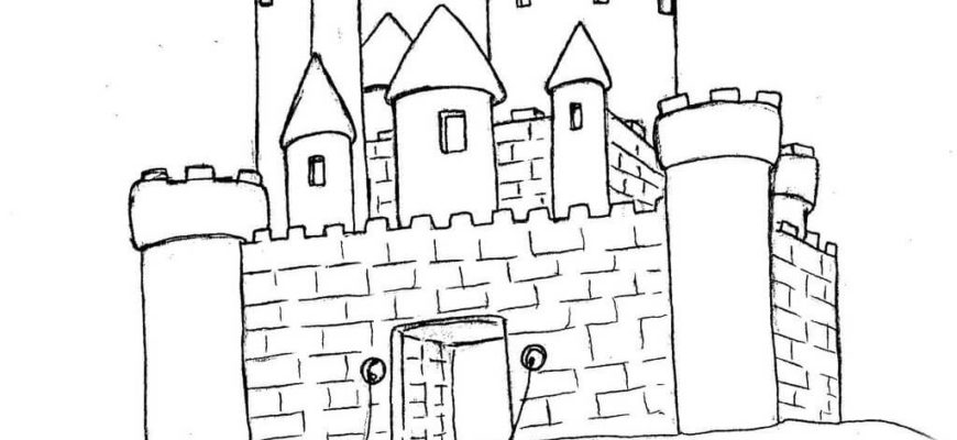 замок для срисовки легкий
