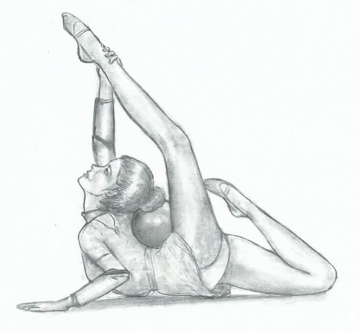 картинки для срисовки гимнастки