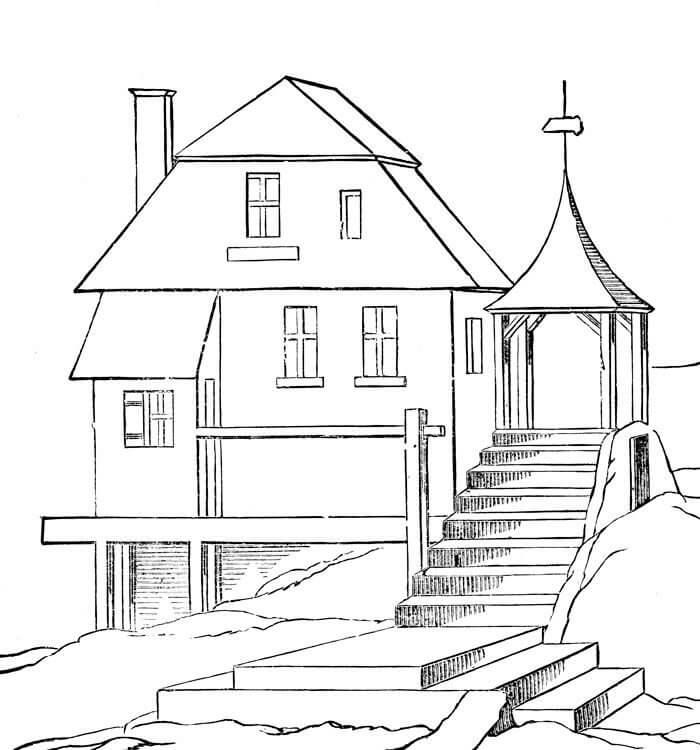 дом для срисовки простой