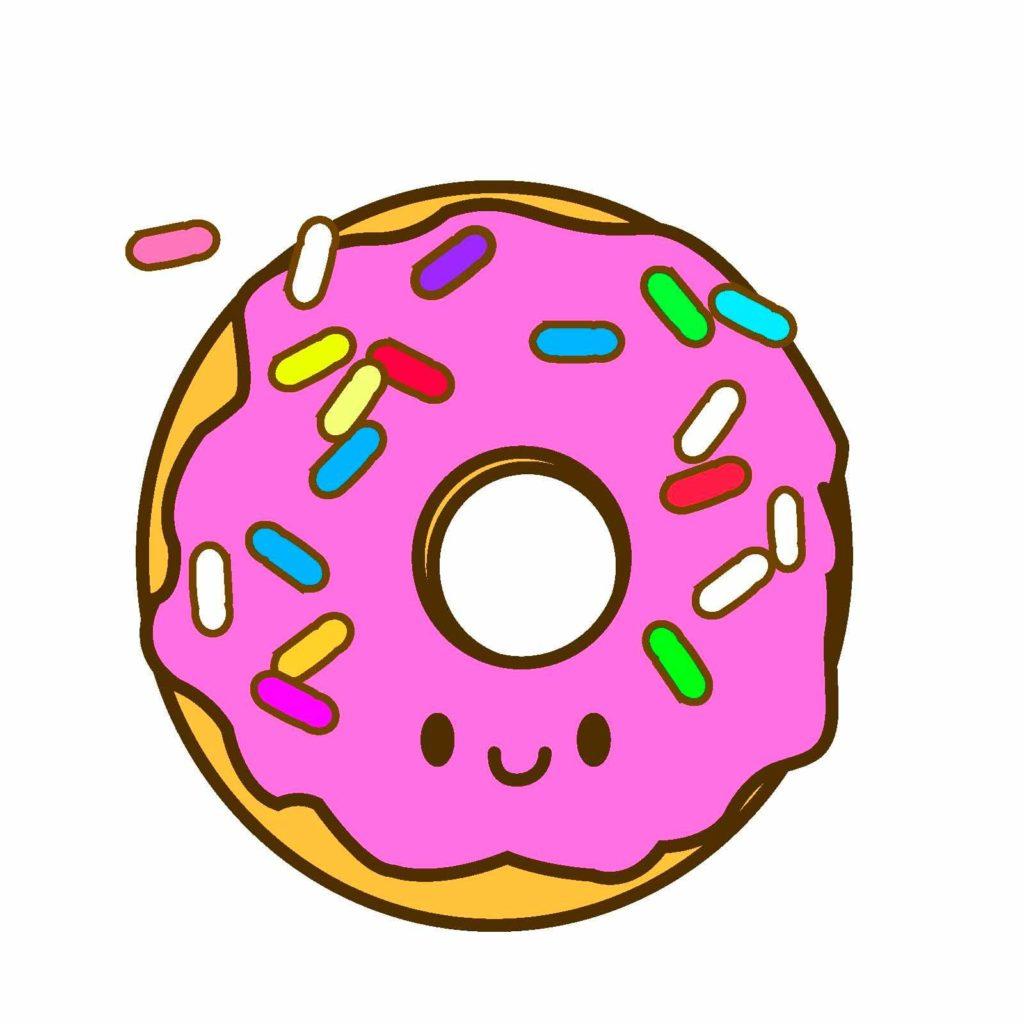 милые пончики для срисовки красивые