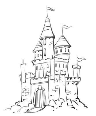 картинки замков для срисовки легкие