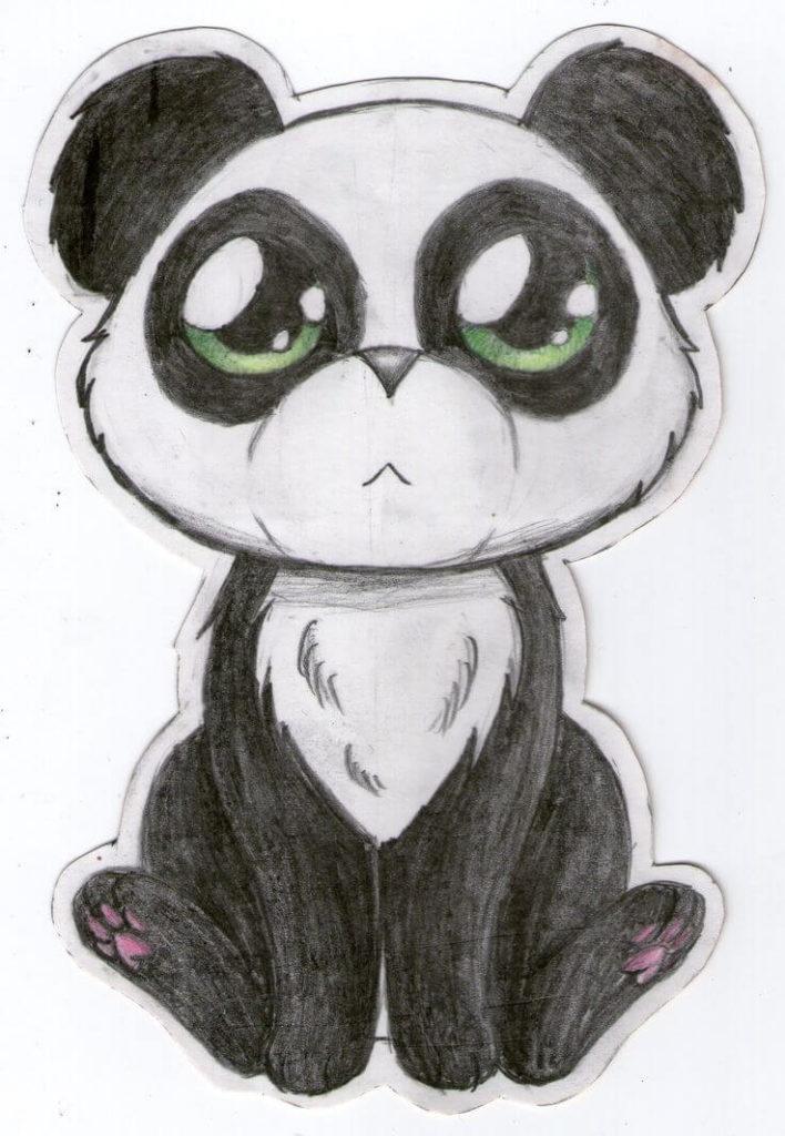 звери для срисовки панда