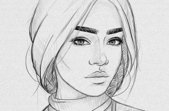 Лица девушки для срисовки