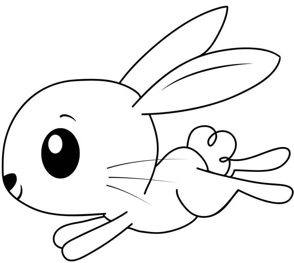 рисунок зайца для срисовки для начинающих