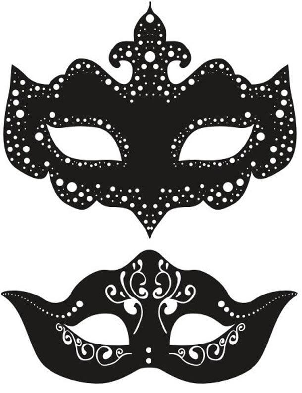 картинки для срисовки маски