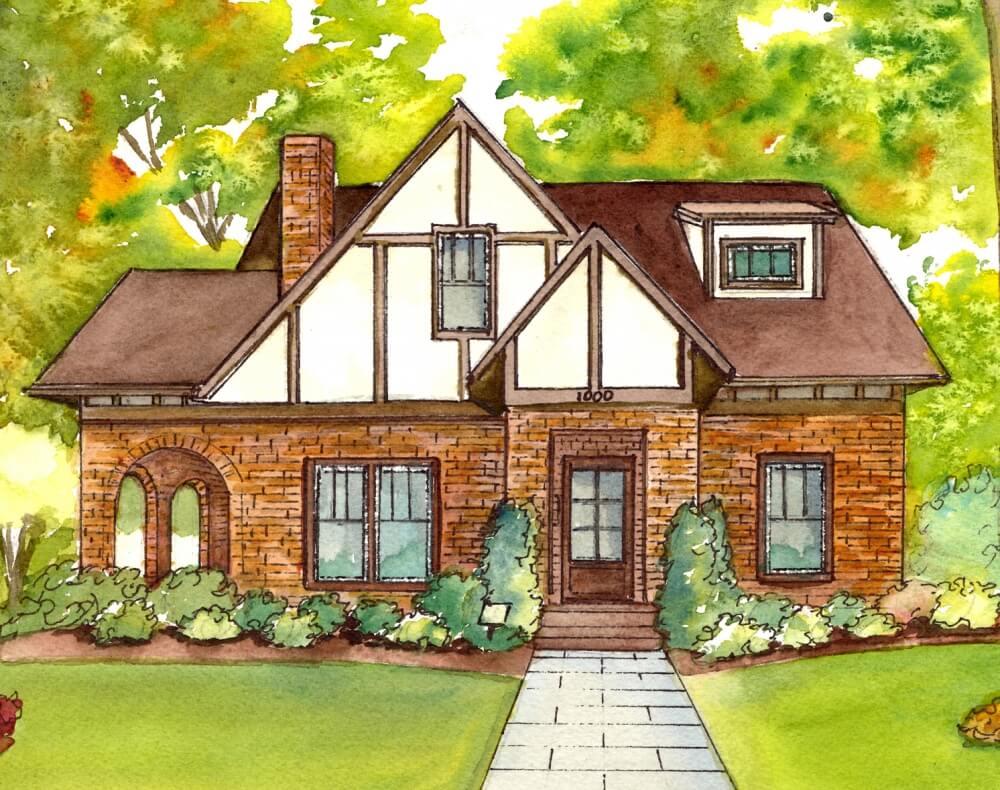 дом для срисовки цветной