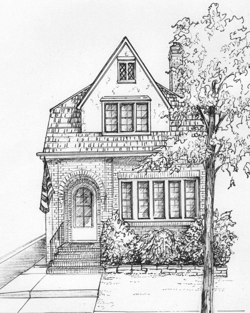 дом для срисовки мрачный