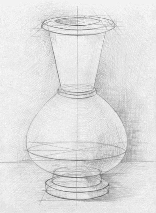 срисовка ваз красивые