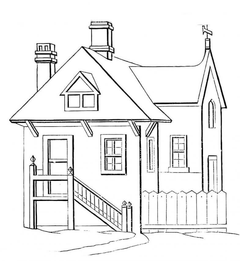 дом для срисовки обычный