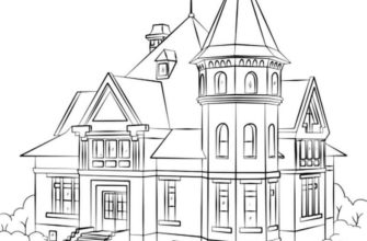 дом для срисовки из мультика
