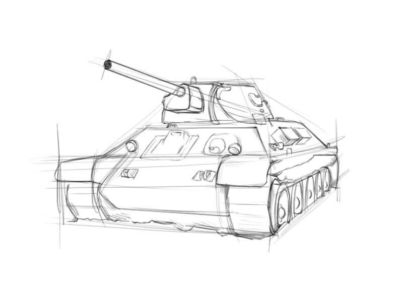 танк для срисовки