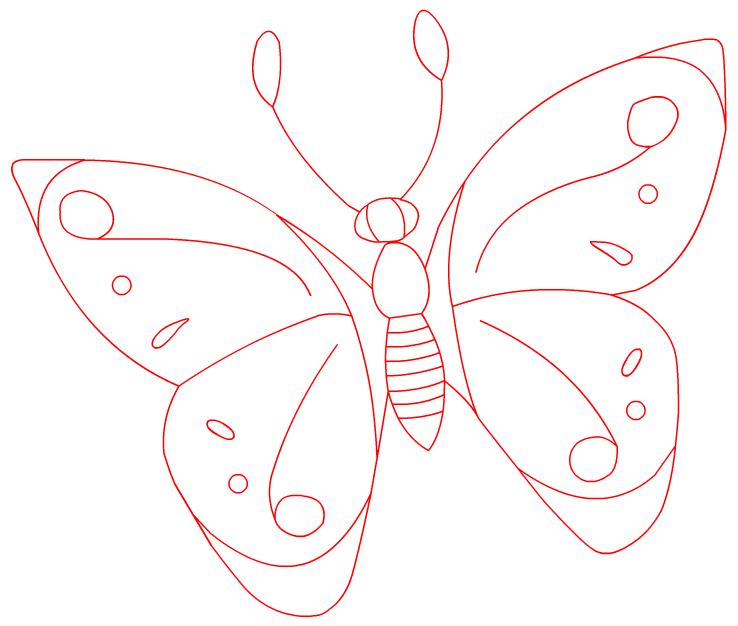 картинки для срисовки бабочки цветная