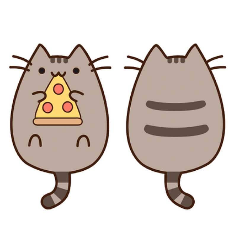 рисунки для срисовки котики пушин