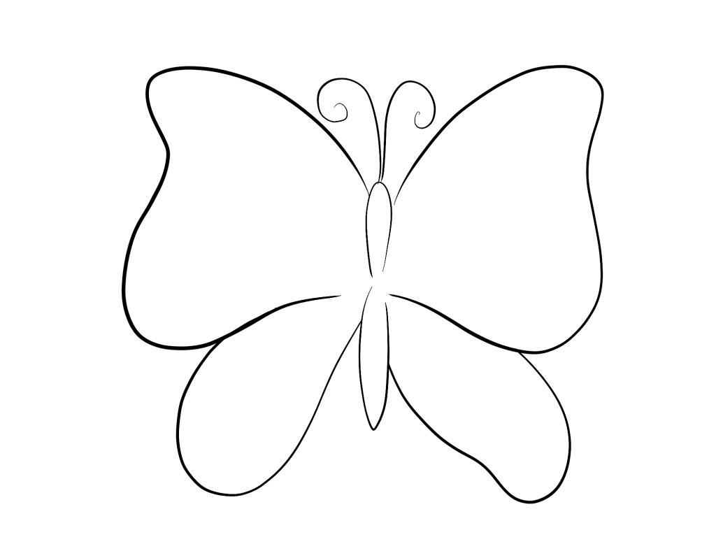картинки для срисовки бабочки очень простая