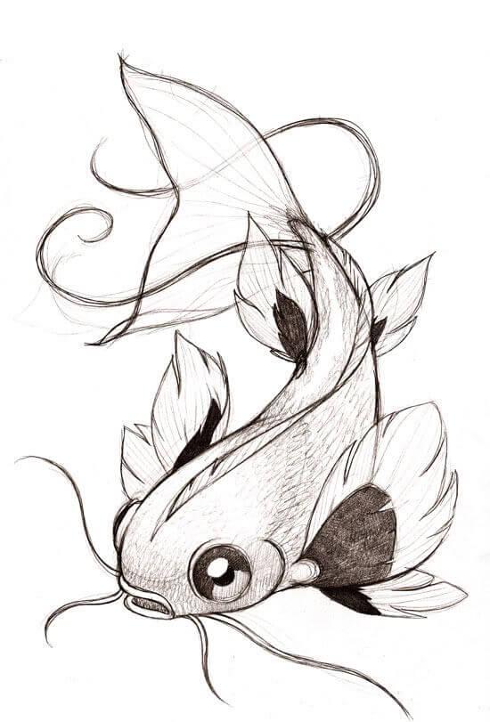 рыбки для срисовки