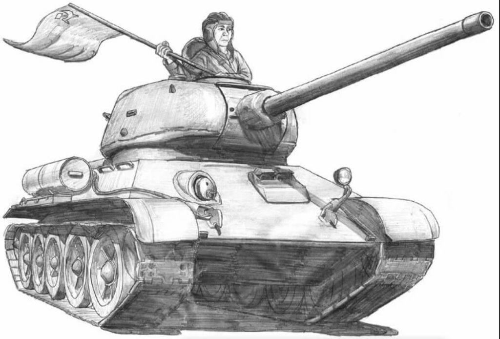 рисунки для срисовки про войну