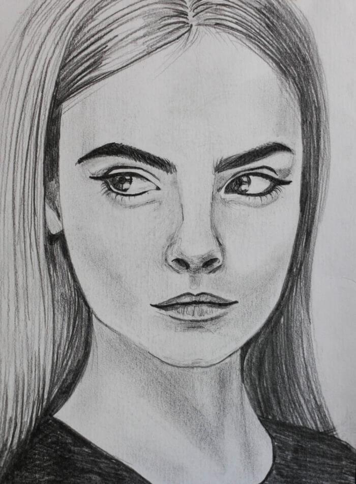 портреты легкие для срисовки для начинающих