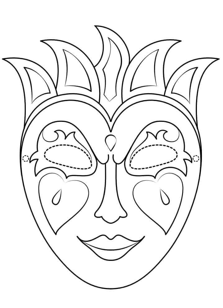 картинки для срисовки маски с короной