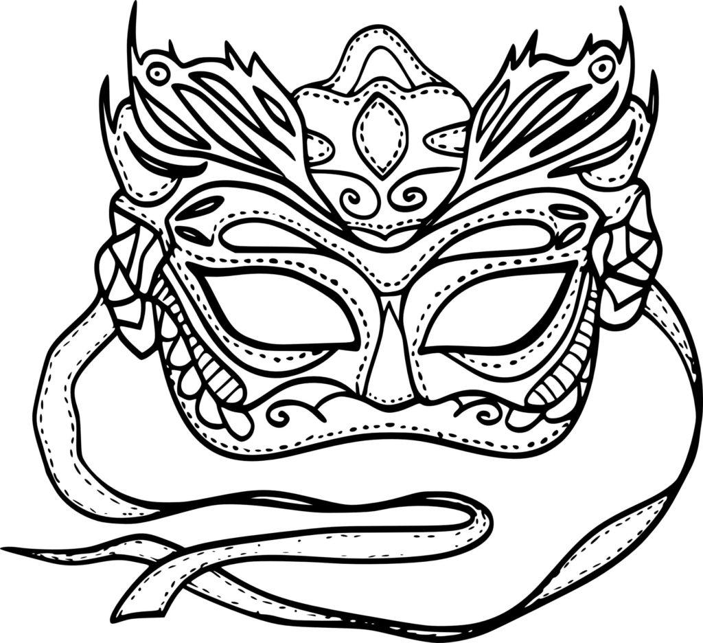 рисунки для срисовки маски