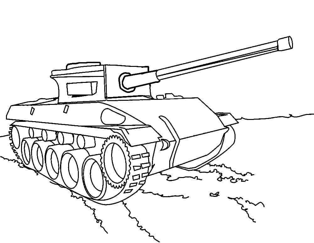 танк для срисовки из мультика