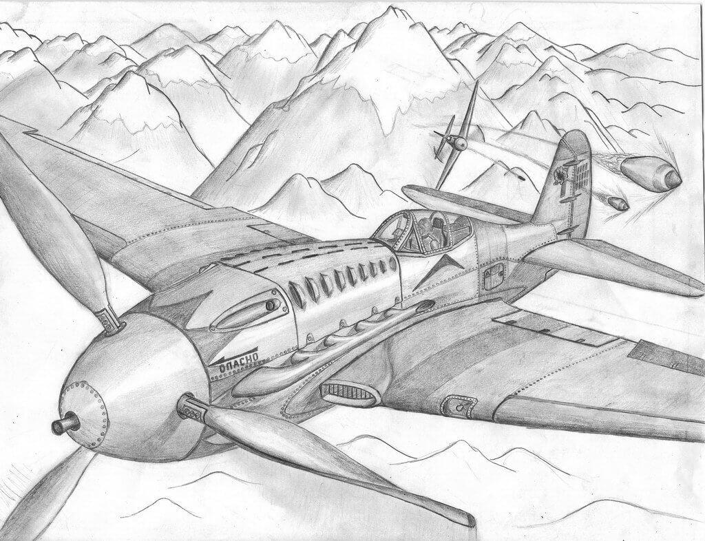 военные картинки для срисовки