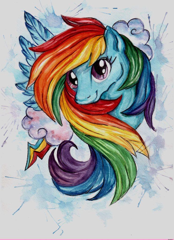 радуга для срисовки лошад