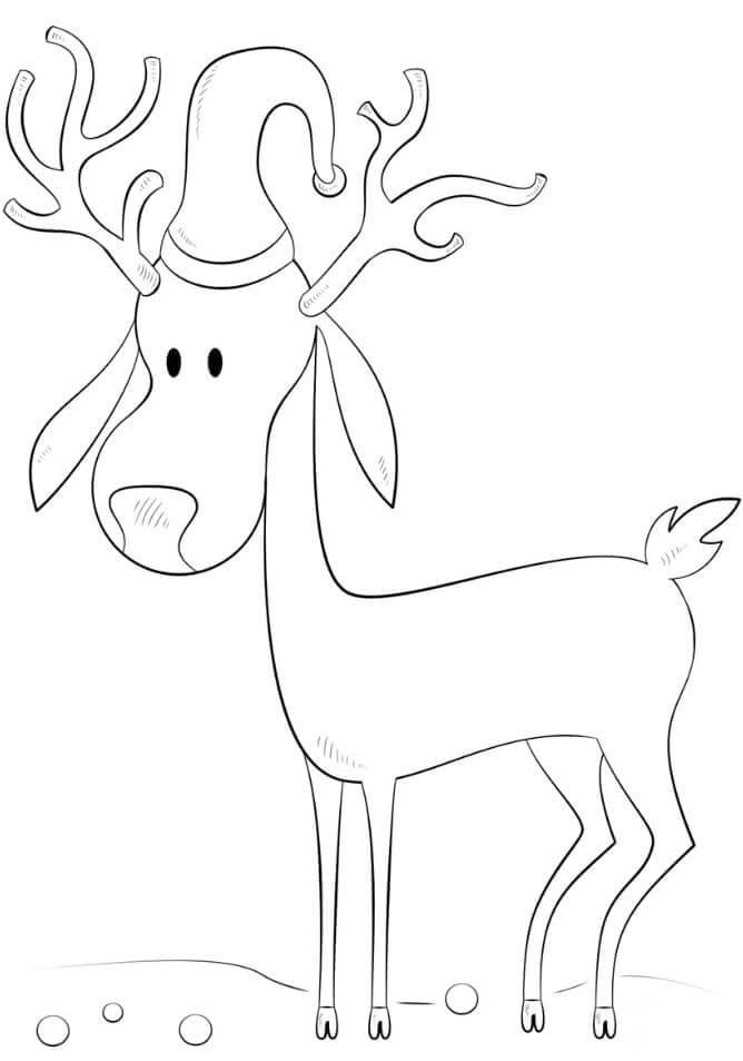 рисунки оленя для срисовки мультяшные