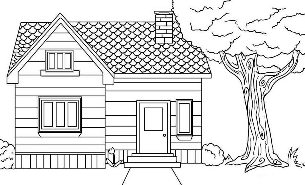 дом для срисовки маленький