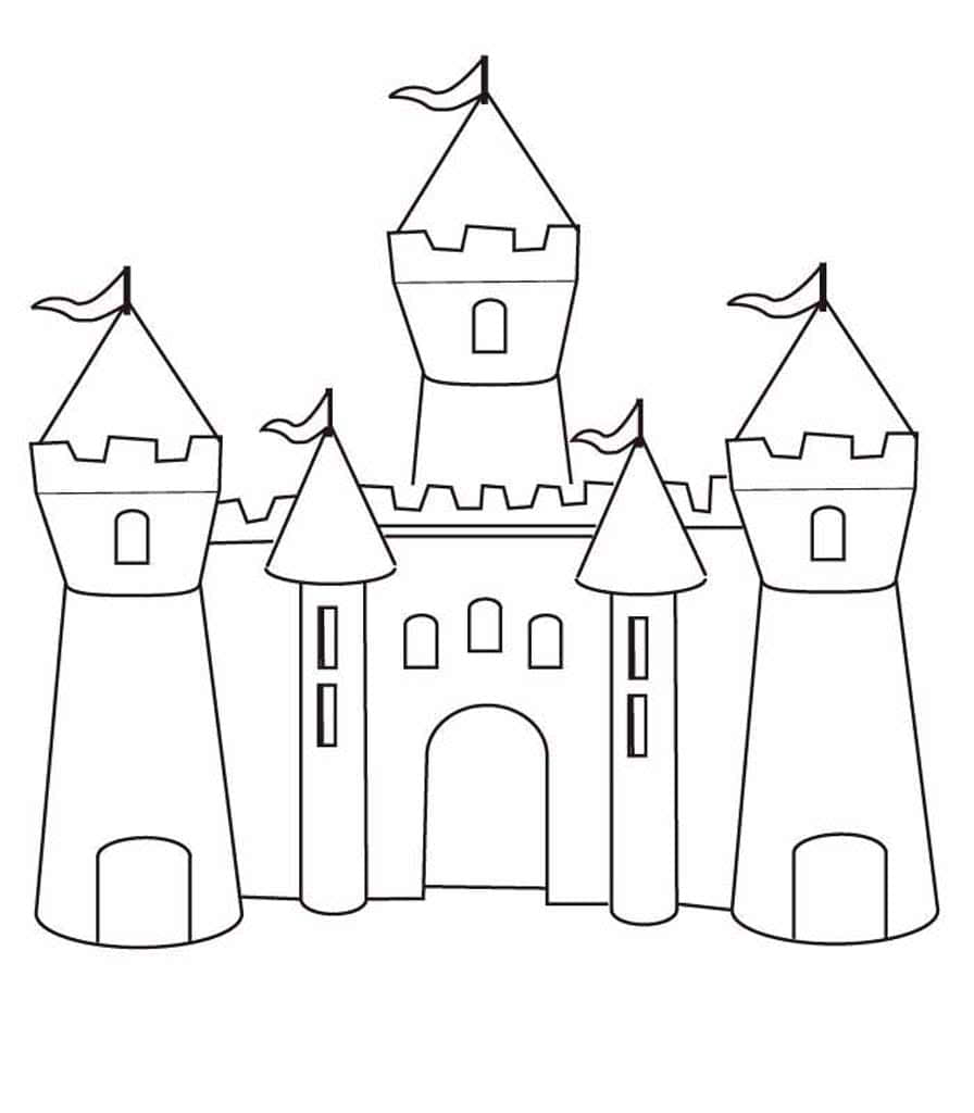 картинки замков для срисовки для детей