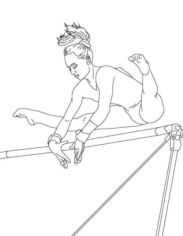 рисунки для срисовки спортивные гимнастика