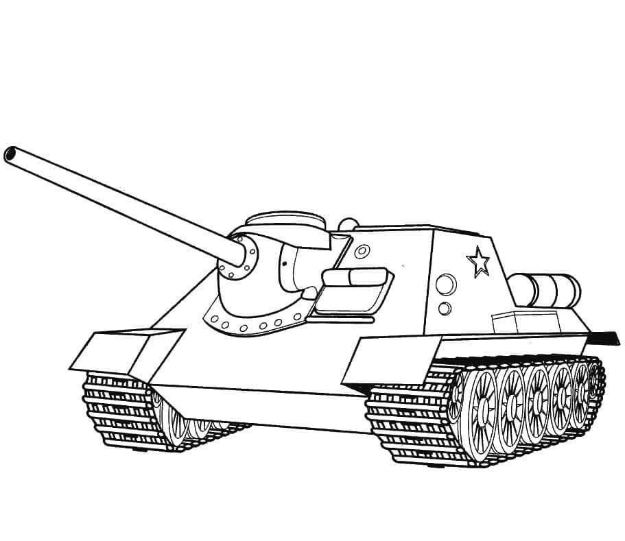 танк для срисовки красивые