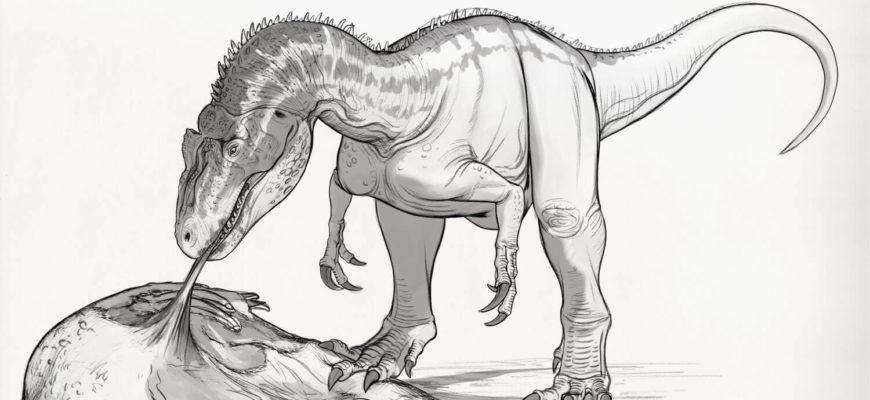 рисунки для срисовки динозавры