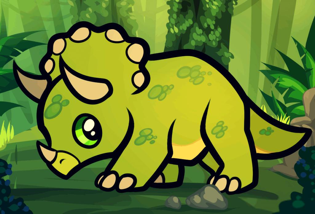 рисунки для срисовки динозавры цветные