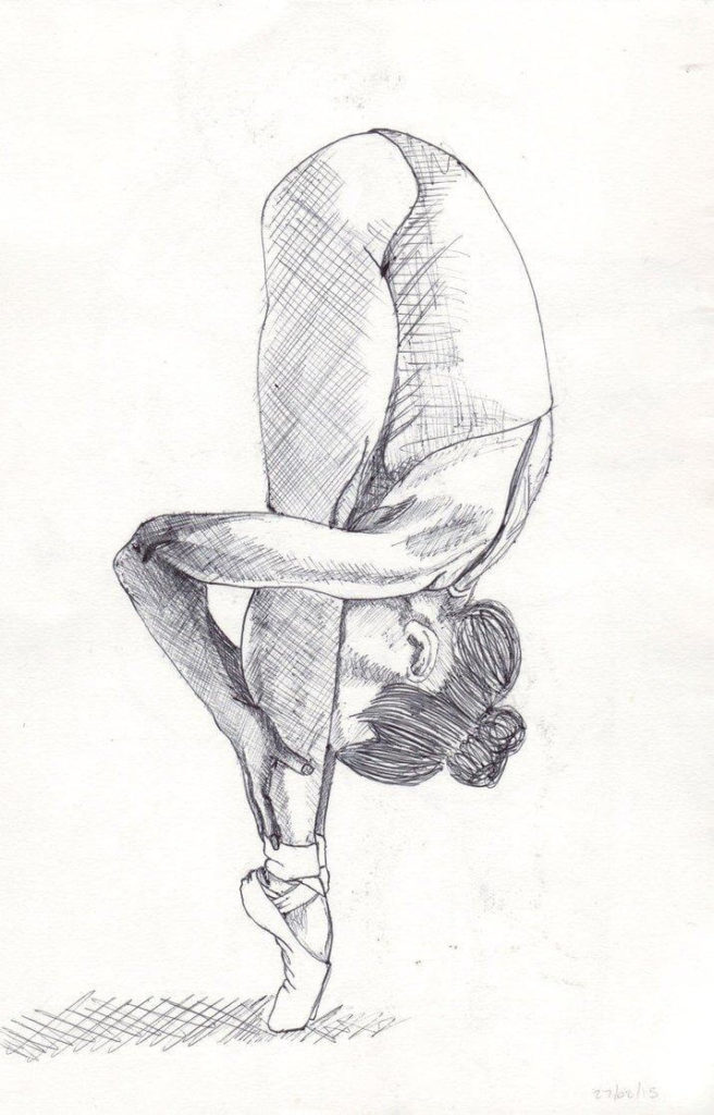 легкие рисунки для срисовки гимнастика