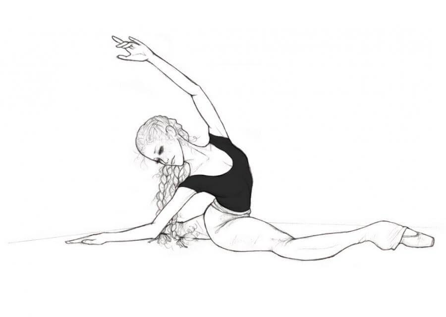 гимнастки для срисовки детям