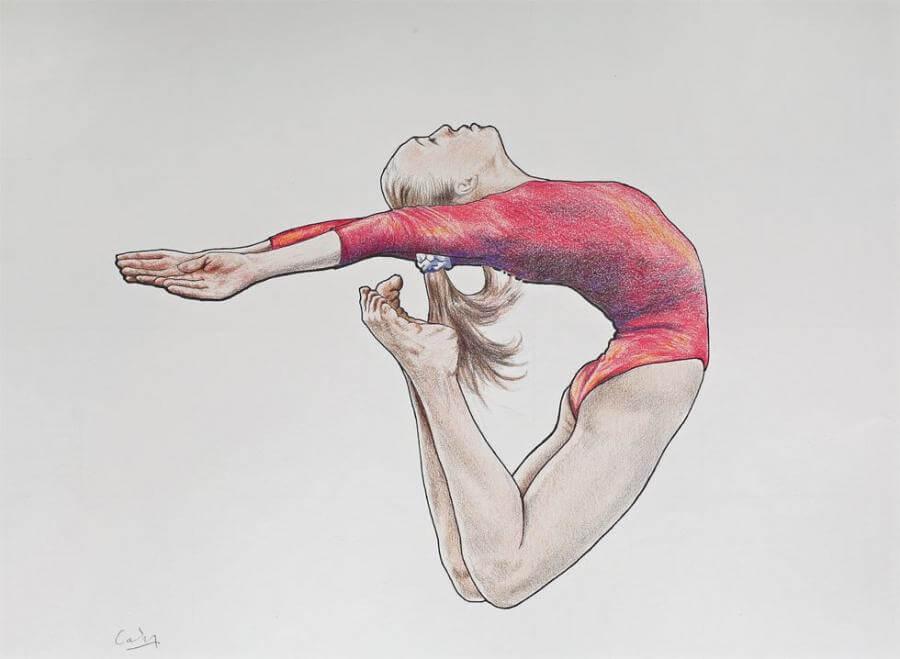 гимнастки для срисовки цветные