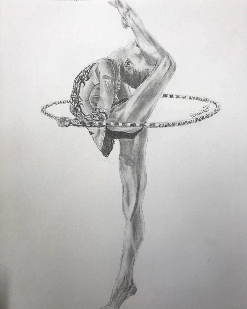 гимнастки для срисовки красивые