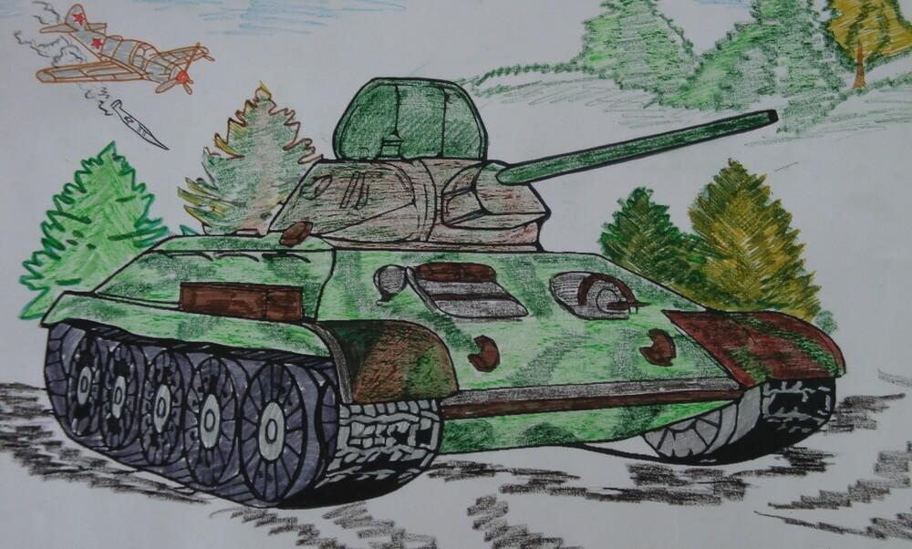 военные картинки для срисовки легкие