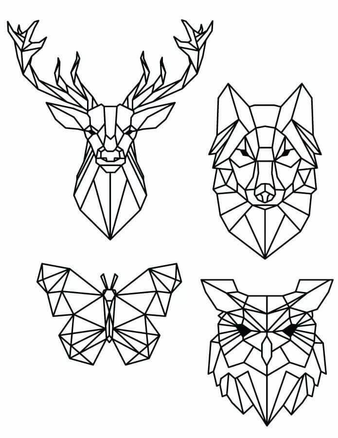 геометрические картинки для срисовки легкие