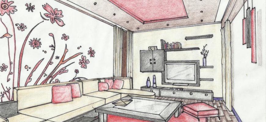 комната для девочки для срисовки розовая